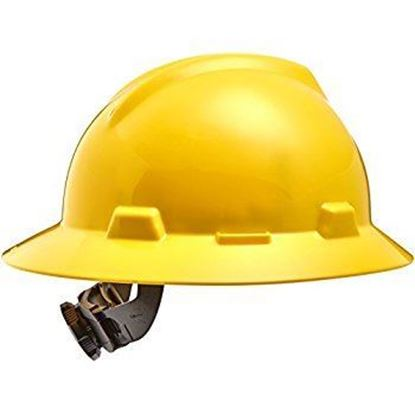 Picture of 33023 - HARD HAT MSA V GAURD HI-VIZ SAFETY YELLOW W/RATCHET
